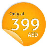Only at 399 AED